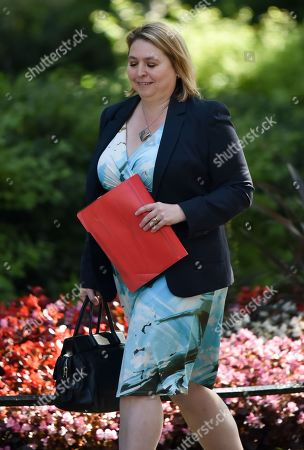 Stock Image of Karen Bradley. Ministers arrive at Downing Street for the final cabinet meeting.