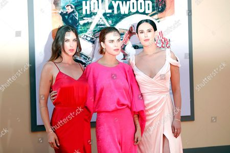 Rumer Willis (R) and her sisters Scout LaRue Willis (L) and Tallulah Belle Willis (C) arrive for the premiere of 'Once Upon a Time in Hollywood' at the TCL Chinese Theatre IMAX in Hollywood, Los Angeles, California, USA, 22 July 2019. The movie opens in the US on 26 July.
