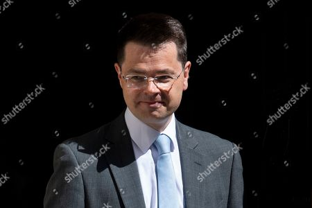 Secretary of State for Housing, Communities and Local Government James Brokenshire leaves after a cabinet meeting in 10 Downing Street, Central London, Britain, 23 July 2019. The conclusion of the Conservative party leadership contest between Boris Johnson and Jeremy Hunt will be announced later in the day with the winner replacing Theresa May as British Prime Minister.