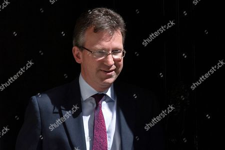 Secretary of State for Business, Energy and Industrial Strategy Greg Clark leaves after a cabinet meeting in 10 Downing Street, Central London, Britain, 23 July 2019. The conclusion of the Conservative party leadership contest between Boris Johnson and Jeremy Hunt will be announced later in the day with the winner replacing Theresa May as British Prime Minister.