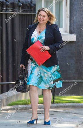 Secretary of State for Northern Ireland Karen Bradley arrives on Downing Street for the final Cabinet meeting
