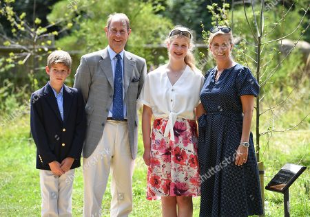 James Viscount Severn, Prince Edward, Lady Louise Windsor and Sophie Countess of Wessex at The Wild Place
