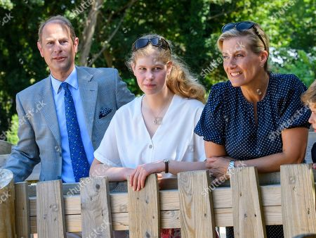 Prince Edward, Lady Louise Windsor, Sophie Countess of Wessex at The Wild Place