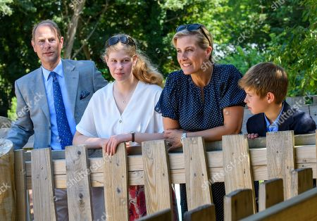 Prince Edward, Lady Louise Windsor, Sophie Countess of Wessex, James Viscount Severn at The Wild Place