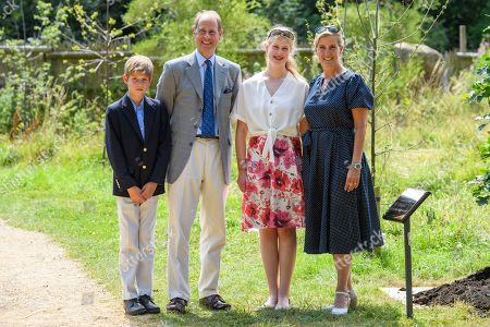James Viscount Severn, Prince Edward, Lady Louise Windsor, Sophie Countess of Wessex at The Wild Place