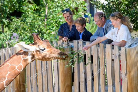 Sophie Countess of Wessex, James Viscount Severn, Prince Edward, Lady Louise Windsor at The Wild Place