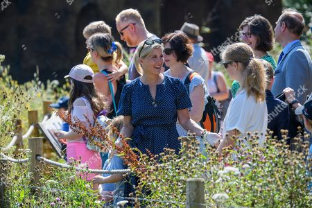 Sophie Countess of Wessex and Lady Louise Windsor at The Wild Place