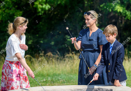 Lady Louise Windsor, Sophie Countess of Wessex, James Viscount Severn at The Wild Place