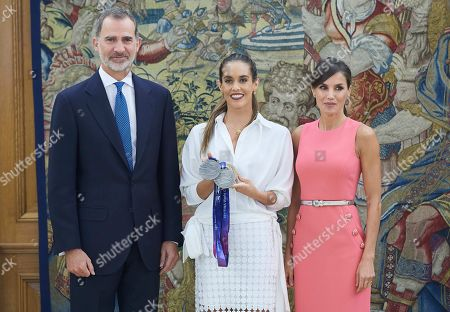 Spanish Royals audience with swimmer Ona Carbonell Ballestero, Madrid