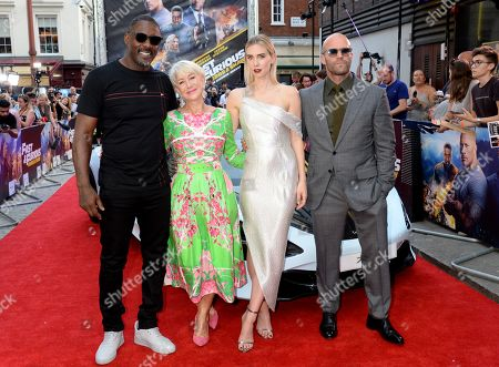 Idris Elba, Helen Mirren, Vanessa Kirby and Jason Statham