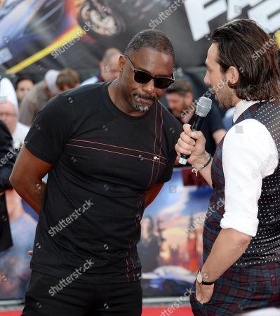 Idris Elba and Alex Zane