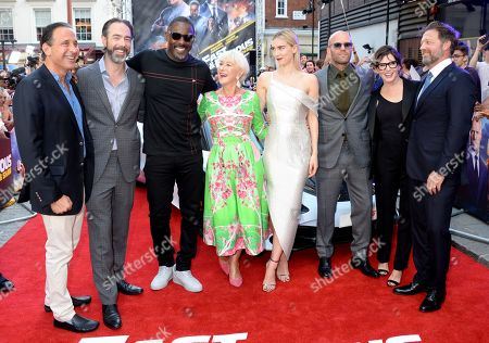Chris Morgan, Idris Elba, Helen Mirren, Vanessa Kirby, Jason Statham, Kelly McCormick and David Leitch