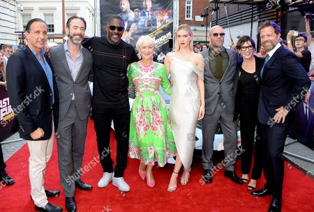 Stock Image of Chris Morgan, Idris Elba, Helen Mirren, Vanessa Kirby, Jason Statham, Kelly McCormick and David Leitch
