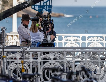 Woody Allen (L) at the set of his new movie, in San Sebastian, Spain, 23 July 2019. Allen is shooting his new movie in San Sebastian from 10 July to 23 August.