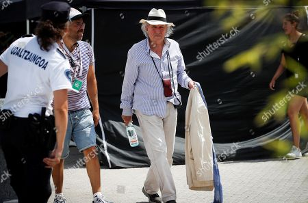 Italian cinematographer Vittorio Storaro (C) at the set of US director Woody Allen's new movie, in San Sebastian, Spain, 23 July 2019. Allen is shooting his new movie in San Sebastian from 10 July to 23 August.