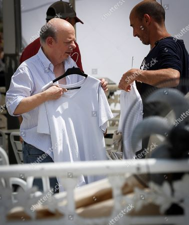 Wallace Shawn (L) at the set of US director Woody Allen's new movie, in San Sebastian, Spain, 23 July 2019. Allen is shooting his new movie in San Sebastian from 10 July to 23 August.