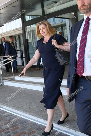 Penny Mordaunt, Secretary of State for Defence and Minister for Women and Equalities leaves the QEII Centre after Boris Johnson is elected as leader of the Conservative Party and the new British Prime Minister