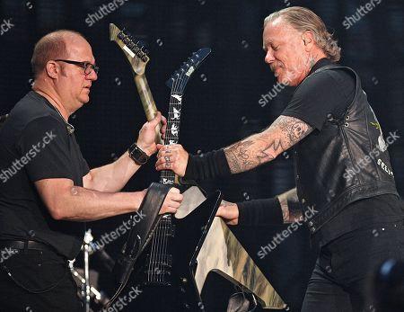 Editorial image of Metallica in concert at the Luzhniki stadium, Moscow, Russia - 21 Jul 2019