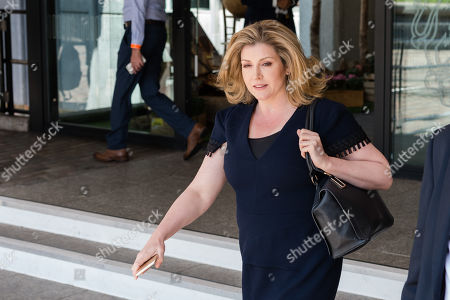 Secretary of State for Defence and Minister for Women and Equalities Penny Mordaunt leaves the Queen Elizabeth II conference centre in Westminster following announcement of the result of the Conservative Party leadership contest.