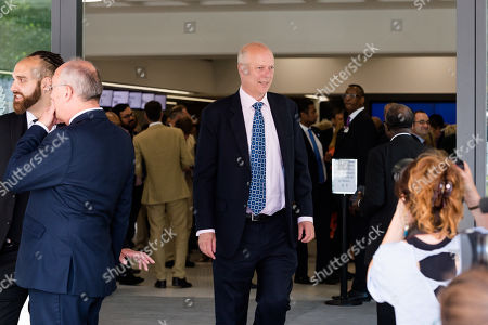 Secretary of State for Transport Chris Grayling leaves the Queen Elizabeth II conference centre in Westminster following announcement of the result of the Conservative Party leadership contest.