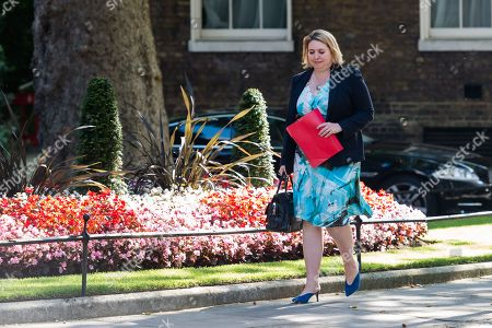 Secretary of State for Northern Ireland Karen Bradley arrives for Theresa May's final cabinet meeting as Prime Minister at 10 Downing Street in London.