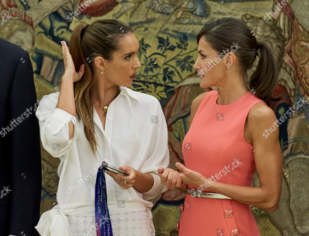 Ona Carbonell and Queen Letizia