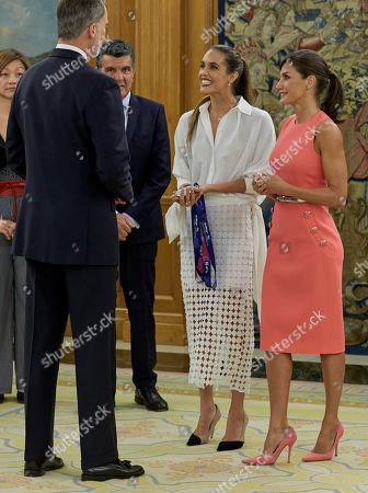 Editorial photo of Spanish Royals receive Spanish synchronized swimmer Ona Carbonell, Madrid, Spain - 23 Jul 2019