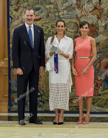 King Felipe VI, Ona Carbonell and Queen Letizia