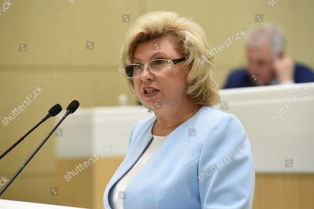 Russian Commissioner for Human Rights Tatyana Moskalkova at the meeting.