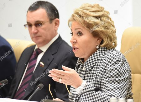 Chairman of the Federation Council of Russia Valentina Matviyenko and her first deputy Nikolai Fyodorov