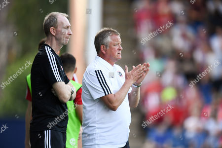 Chris Wilder Manager of Sheffield United and assistant Alan Knill.