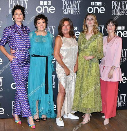 Natasha O'Keeffe, Helen McCrory, Caryn Mandabach, Sophie Rundle and Charlene McKenna