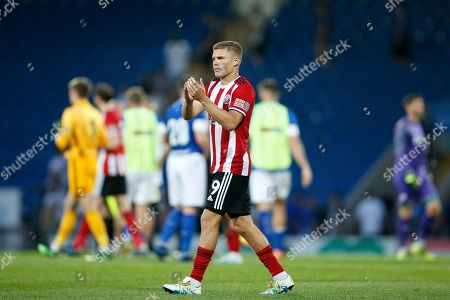 Richard Stearman of Sheffield United applauds fans after the Pre-Season Friendly match between Chesterfield and Sheffield United at Proact Stadium, Whittington Moor