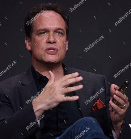 """Diedrich Bader participates in the """"Harley Quinn"""" panel during the Television Critics Association Summer Press Tour, in Beverly Hills, Calif"""