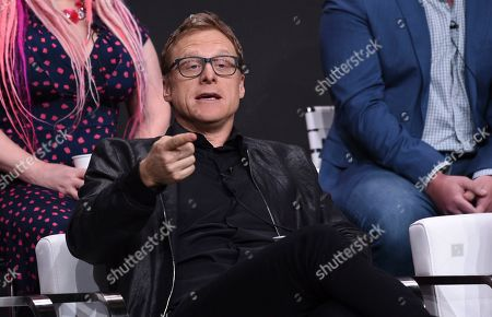 "Alan Tudyk participates in the ""Harley Quinn"" panel during the Television Critics Association Summer Press Tour, in Beverly Hills, Calif"