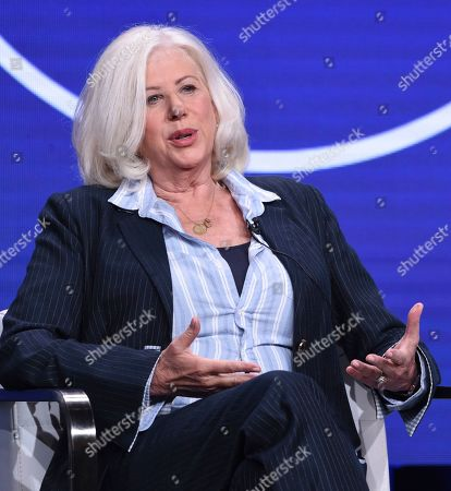 """Stock Image of Callie Khouri participates in Lifetime's """"Patsy & Loretta"""" panel at the Television Critics Association Summer Press Tour, in Beverly Hills, Calif"""