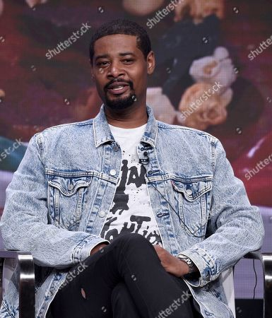 """Stock Image of Danny Brown speaks in Viceland's """"Danny's House"""" panel at the Television Critics Association Summer Press Tour, in Beverly Hills, Calif"""