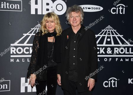 Christine McVie, Neil Finn. Christine McVie, left, and Neil Finn of Fleetwood Mac attend the 2019 Rock & Roll Hall of Fame induction ceremony at the Barclays Center, in New York