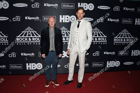 Philip Selway, Ed O'Brien. Philip Selway, left, and Ed O'Brien of Radiohead attend the 2019 Rock & Roll Hall of Fame induction ceremony at the Barclays Center, in New York