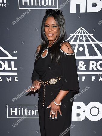 Angela Winbush attends the 2019 Rock & Roll Hall of Fame induction ceremony at the Barclays Center, in New York