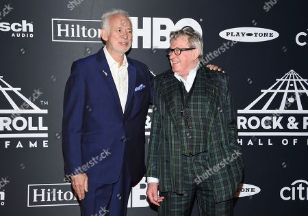 Phil Manzanera, Andy Mackay. Inductees Phil Manzanera, left, and Andy Mackay of Roxy Music attend the 2019 Rock & Roll Hall of Fame induction ceremony at the Barclays Center, in New York