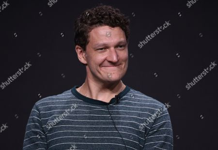"""Gabriel Ebert participates in AT&T Audience's """"Mr. Mercedes"""" panel at the Television Critics Association Summer Press Tour, in Beverly Hills, Calif"""