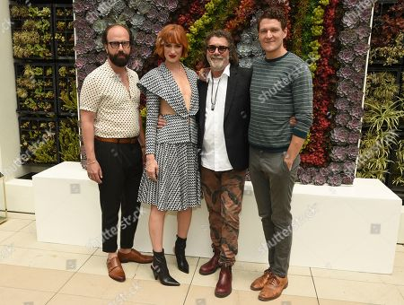 "Stock Picture of Brett Gelman, Breeda Wool, Jack Bender, Gabriel Ebert. Brett Gelman, Breeda Wool, director/producer Jack Bender and Gabriel Ebert attend AT&T Audience's ""Mr. Mercedes"" photo opp at the Television Critics Association Summer Press Tour, in Beverly Hills, Calif"