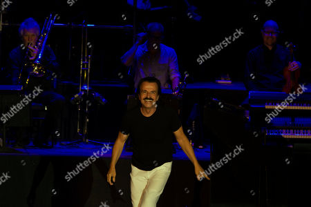 Greek pianist and composer Yanni performs during a concert at the seaside waterfront of Beirut, during the Beirut Holidays 2019 festival, Lebanon, 23 July 2019.