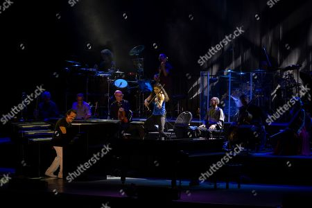 Greek pianist and composer Yanni (L) performs during a concert at the seaside waterfront of Beirut, during the Beirut Holidays 2019 festival, Lebanon, 23 July 2019.