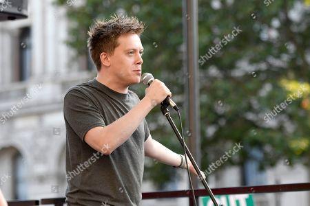 Guardian columnist, Owen Jones speech at the anti Boris Johnson election rally in London.