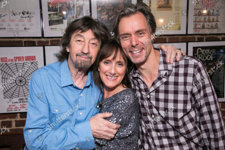 Sir Trevor Nunn (Director), Jenna Russell (Francesca) and Edward Baker-Duly (Robert)