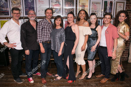 Stock Picture of Dale Rapley (Bud), Paul F Monaghan (Charlie), Edward Baker-Duly (Robert), Jenna Russell (Francesca), Gillian Kirkpatrick (Marge), Shanay Holmes (Marian), Maddison Bulleyment (Carolyn), David Perkins (Michael) and Georgia Brown (Chiara/Ginny/State Fair Singer)
