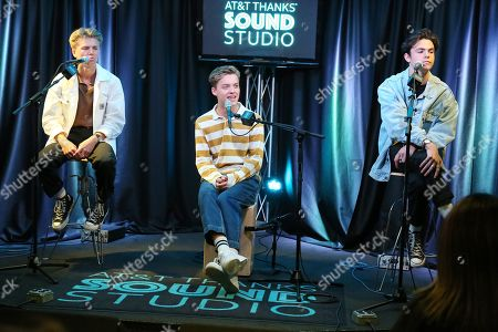 Stock Picture of New Hope Club - George Smith, Reece Bibby and Blake Richardson