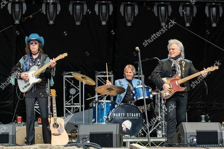 Marty Stuart and The Fabulous Superlatives - Kenny Vaughan, Harry Stinson and Marty Stuart
